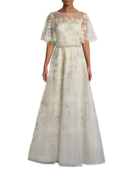 Rickie Freeman for Teri Jon Embroidered Lace Gown