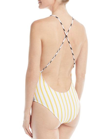 Delfina Striped One-Piece Swimsuit
