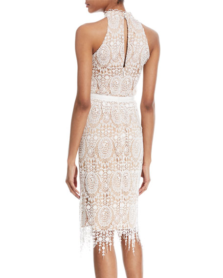 Katana Crochet Fringe Halter Dress