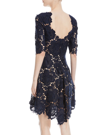 Kaya Rose Lace Mini Cocktail Dress