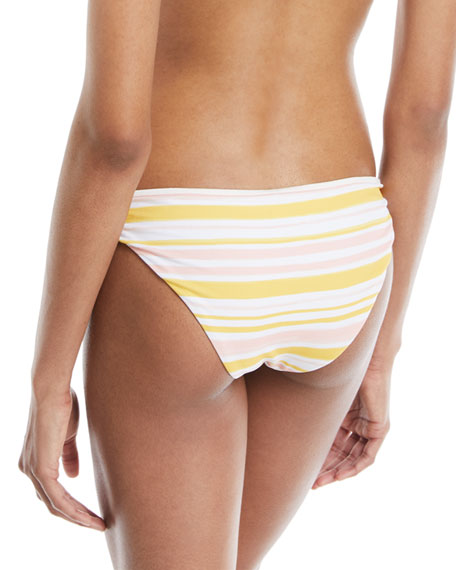 Annia Painted Stripe Low-Rise Swim Bottoms