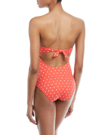 Lulu Polka-Dot Sweetheart One-Piece Swimsuit