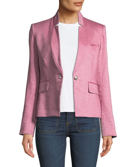 Orchid Chambray Upcollar Jacket