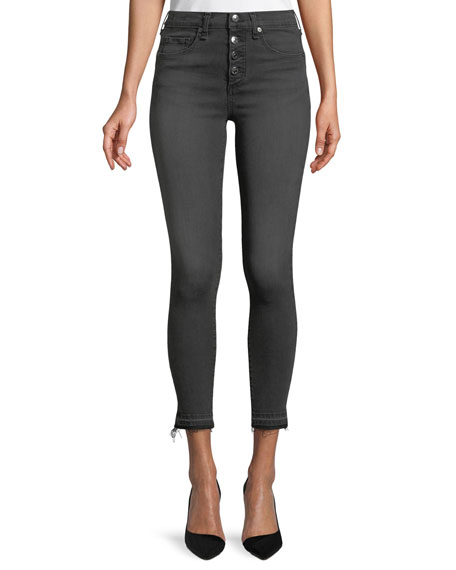 "Debbie 10"" Rise Skinny Jeans w/ Button Fly"
