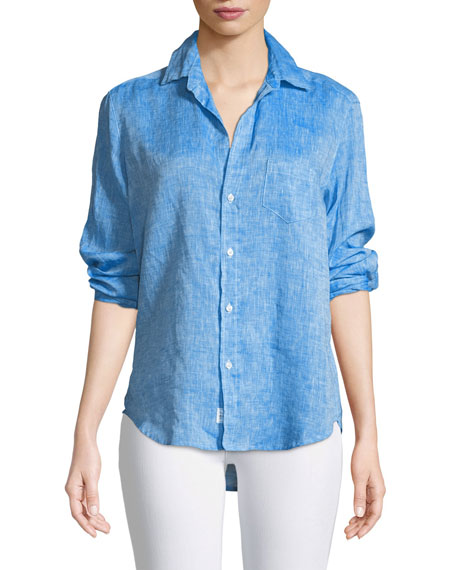 Frank & Eileen Eileen Button-Down Long-Sleeve Linen Shirt