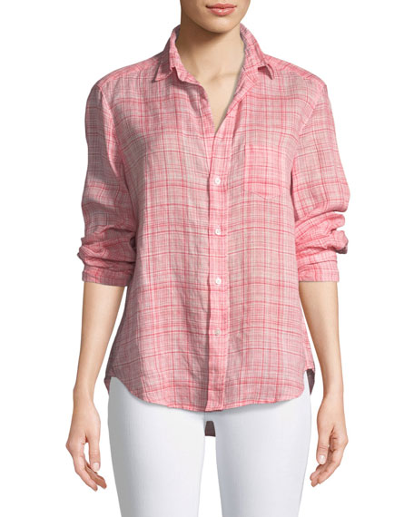 Frank & Eileen Eileen Button-Down Plaid Linen Shirt