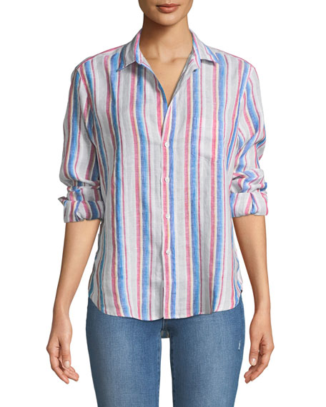 Frank & Eileen Eileen Long-Sleeve Striped Linen Button-Down