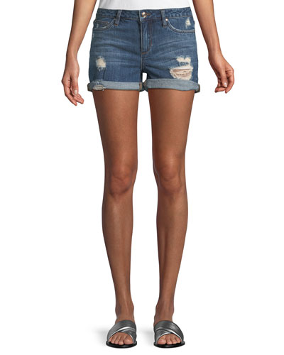 Rolled Denim Shorts