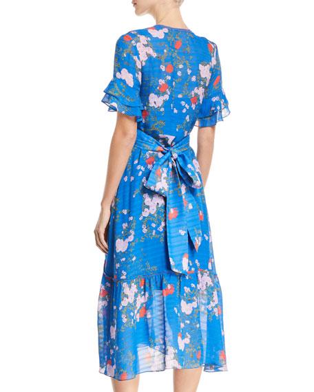Blaire Floral-Print Silk Wrap Dress