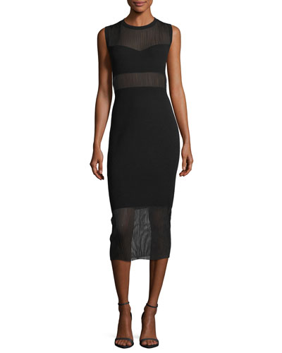 Jasmine Crewneck Sleeveless Straight-Fit Dress
