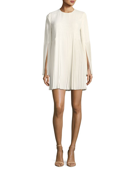 Violetta Pleated Georgette Mini Dress