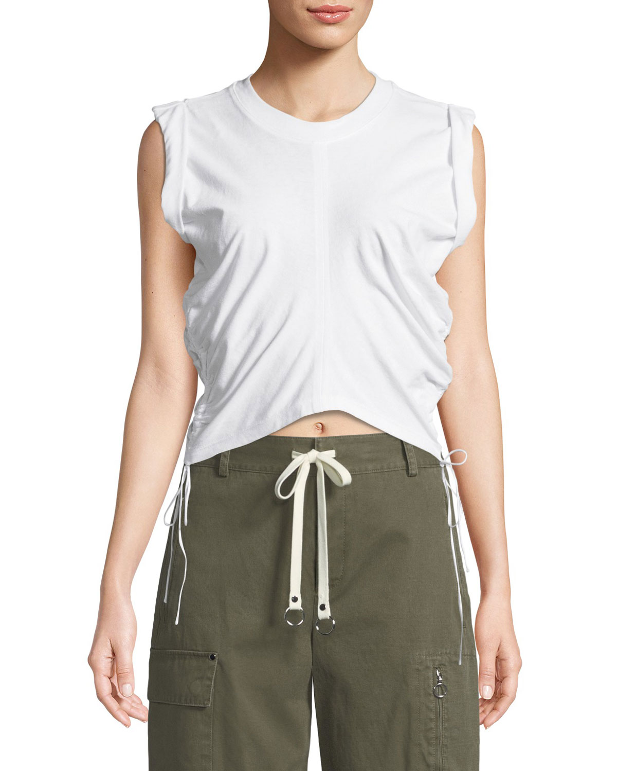 High-Twist Jersey Crop Top w/ Side Ties. Add to Favorites