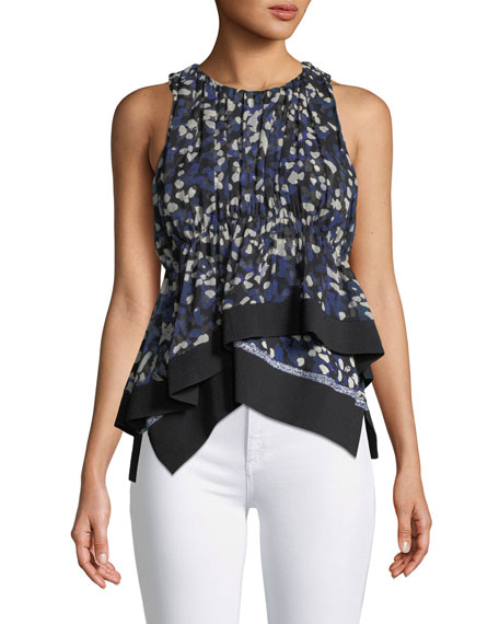 3.1 Phillip Lim Painted Dot Chiffon Tank with