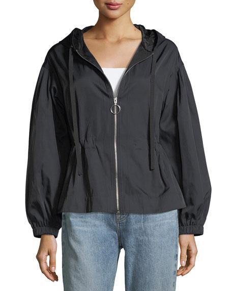 Melanie Zip-Front Cinched-Waist Short Jackets