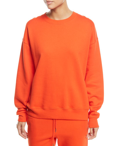 Lia Crewneck Long-Sleeve Cotton Sweatshirt