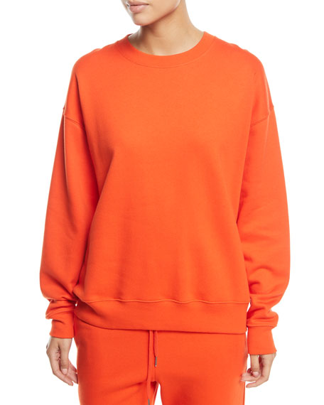 Lia Crewneck Long-Sleeve Cotton Sweatshirt