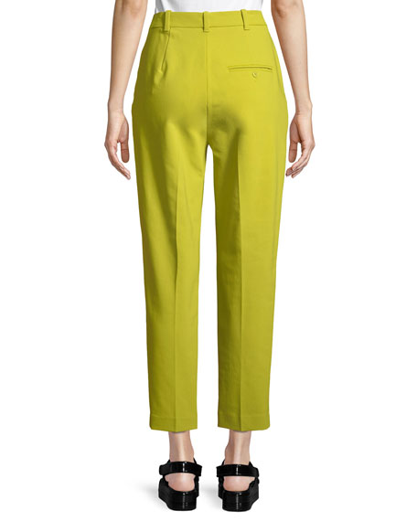 Double-Waistband Tailored Tapered Pants