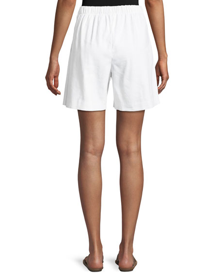 Linen Twill Tie-Front Shorts