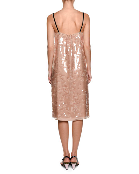 Image 2 of 2: Cipria Sleeveless Sequin Cocktail Dress