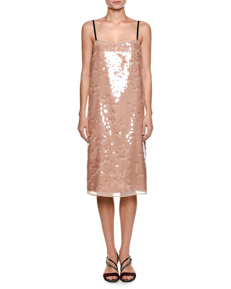 Cipria Sleeveless Sequin Cocktail Dress