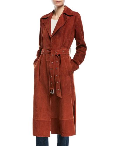 Jules Belted Suede Coat