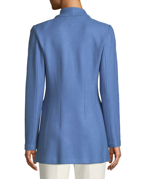 Sarga Knit Twill Notch-Collar Jacket