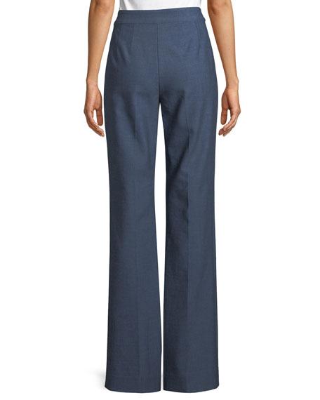 Summer Bella Double Weave Flare-Leg Pants
