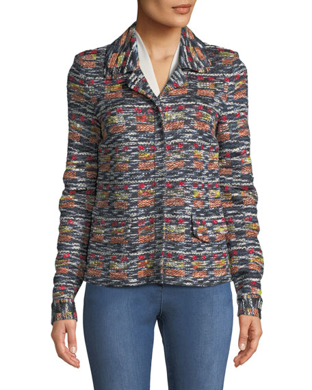 Painterly Tweed Knit Jacket