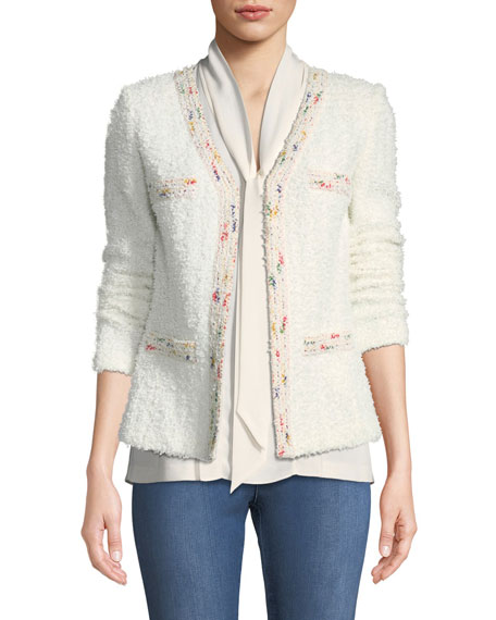 St. John Collection Flagged Textural Knit Blazer