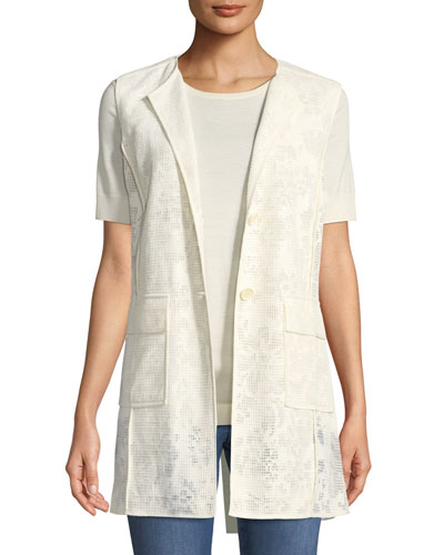 394fe0f93fd4a8 Netted Burnout Two-Button Vest