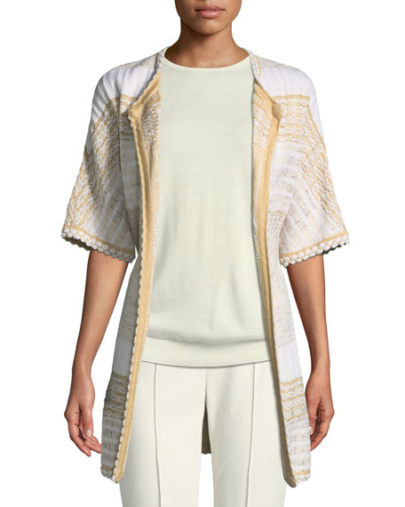 St. John Collection Mixed Floats Striped Knit Jacket