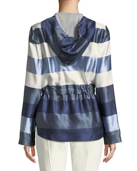 Block Stripe Twill Jacket