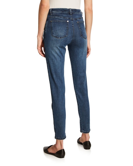 Stretch Denim Slim Ankle Jeans