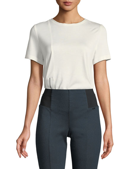 Heavy Sleek Mixed-Media Top