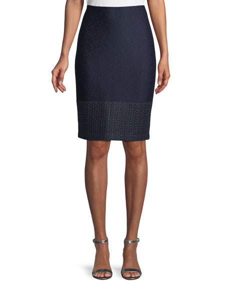Caris Knit Pencil Skirt