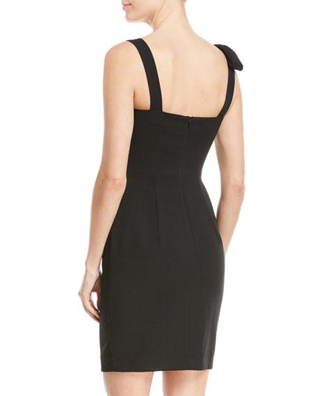 Zahara Bow-Shoulder Sheath Mini Cocktail Dress