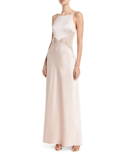 Lana Lace-Insert Sleeveless Gown