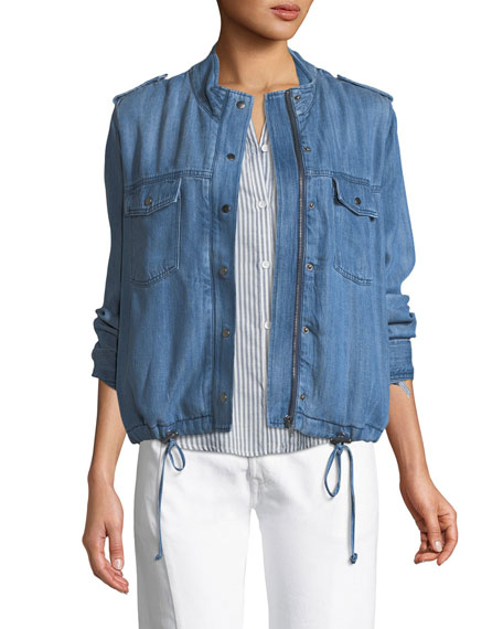 Rails Collins Zip-Front Chambray Utility Jacket