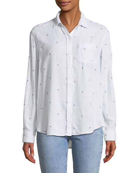 Charli Button-Down Linen-Blend Shirt