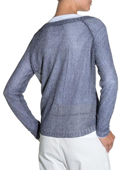 Bateau-Neck Knit Sweater