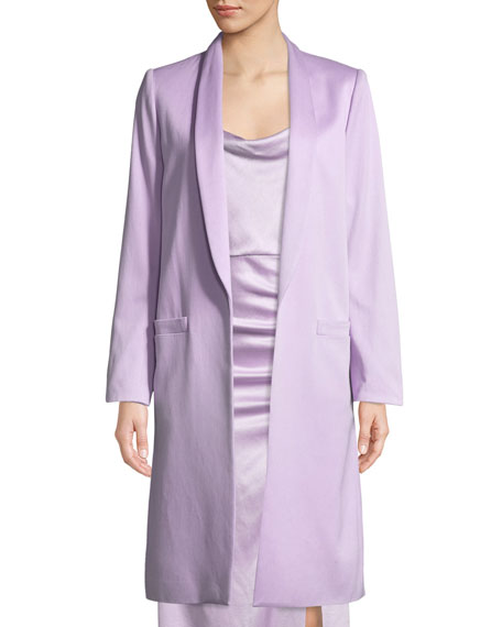 Alice + Olivia Kylie Long Easy Shawl-Collar Jacket