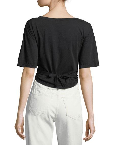 Trinity V-Neck Short-Sleeve Cotton Tee