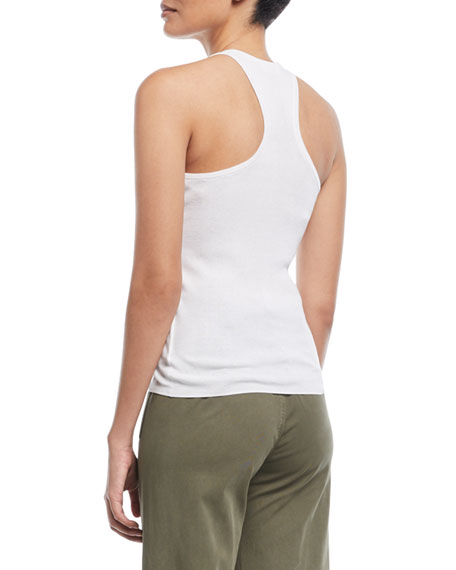 Nello High-Neck Racerback Cotton Top