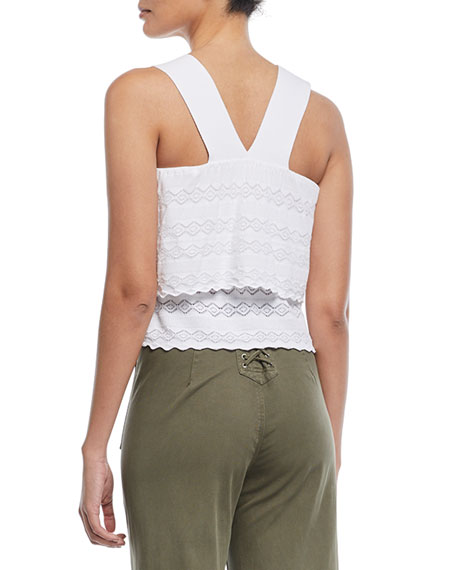 Coppola Sleeveless Tiered Lace Top