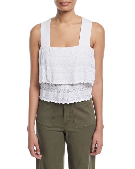 A.L.C. Coppola Sleeveless Tiered Lace Top and Matching
