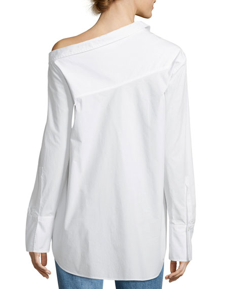 Wesley Off-One-Shoulder Cotton Top