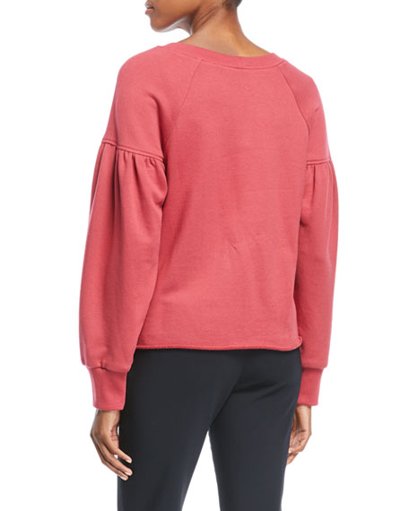 Gilmore Crewneck Long-Sleeve Cotton Sweatshirt
