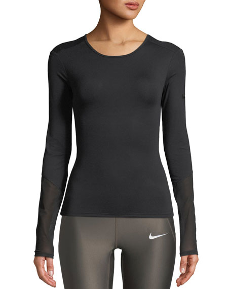 Nike Dri-FIT Long-Sleeve Cross Back Training Top