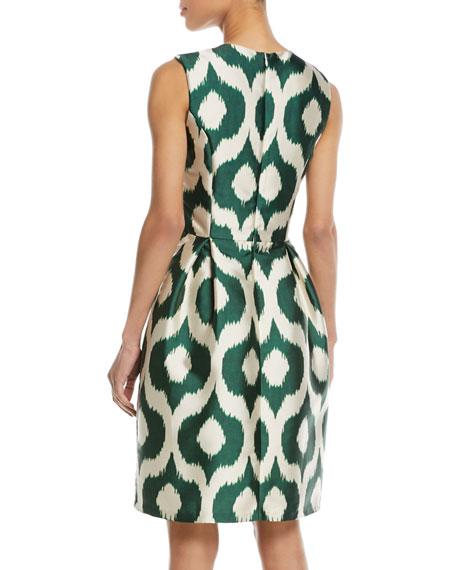 Divan Batik-Print Sleeveless Sheath Dress