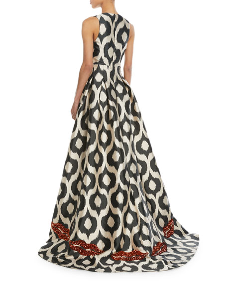 Erva Embellished Puddle-Hem Gown